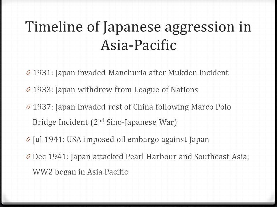 CHAPTER 6: OUTBREAK OF WORLD WAR II IN THE ASIA PACIFIC - ppt video