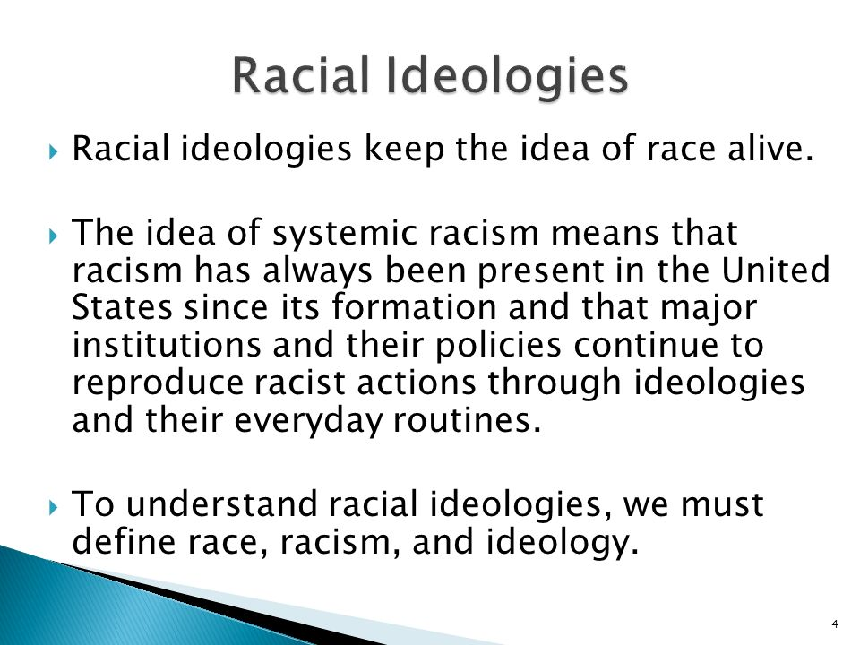 chapter three racial ideologies from the 1920s to the present ppt