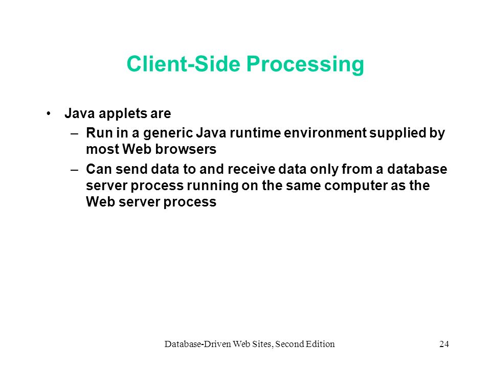 Client-Side Processing