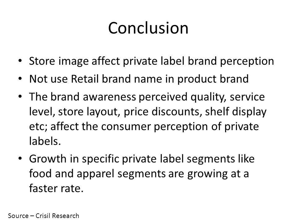 Presentation on A Study of Private Label Brands - ppt video