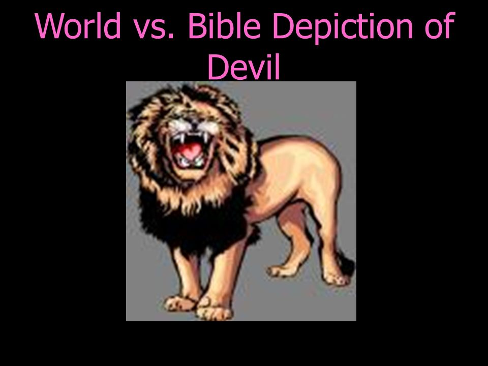 World vs. Bible Depiction of Devil