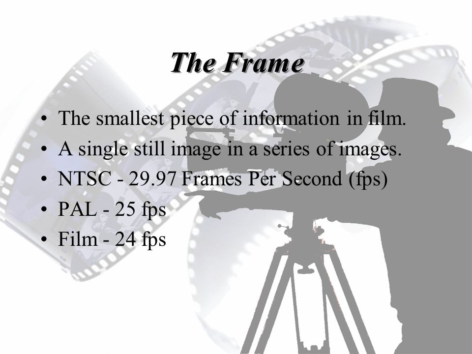 The Frame Smallest Piece Of Information In Film