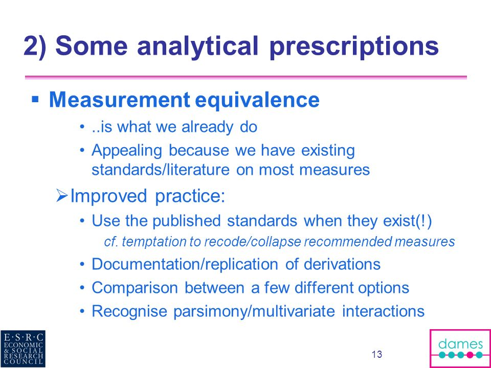 2) Some analytical prescriptions