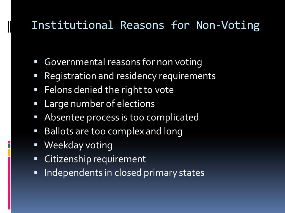 voter id laws essay example In addition to voter id laws, these recent changes to voting laws include polling place closings, new hurdles to voter registration, and cutbacks in early voting dayssince 2011, some 22.