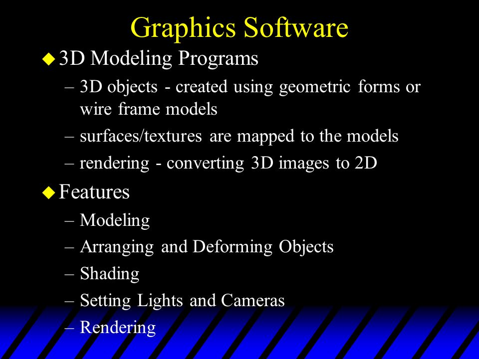 Graphics Software 3D Modeling Programs Features