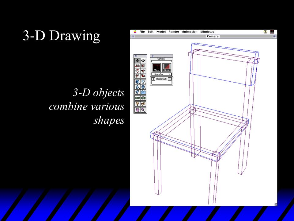 3-D Drawing 3-D objects combine various shapes
