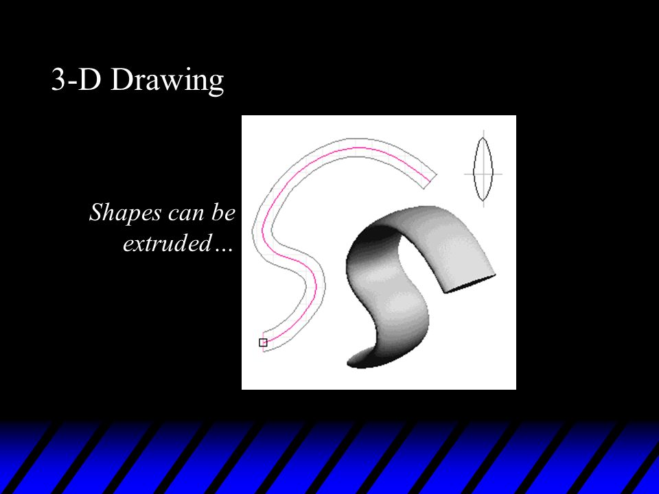 3-D Drawing Shapes can be extruded…