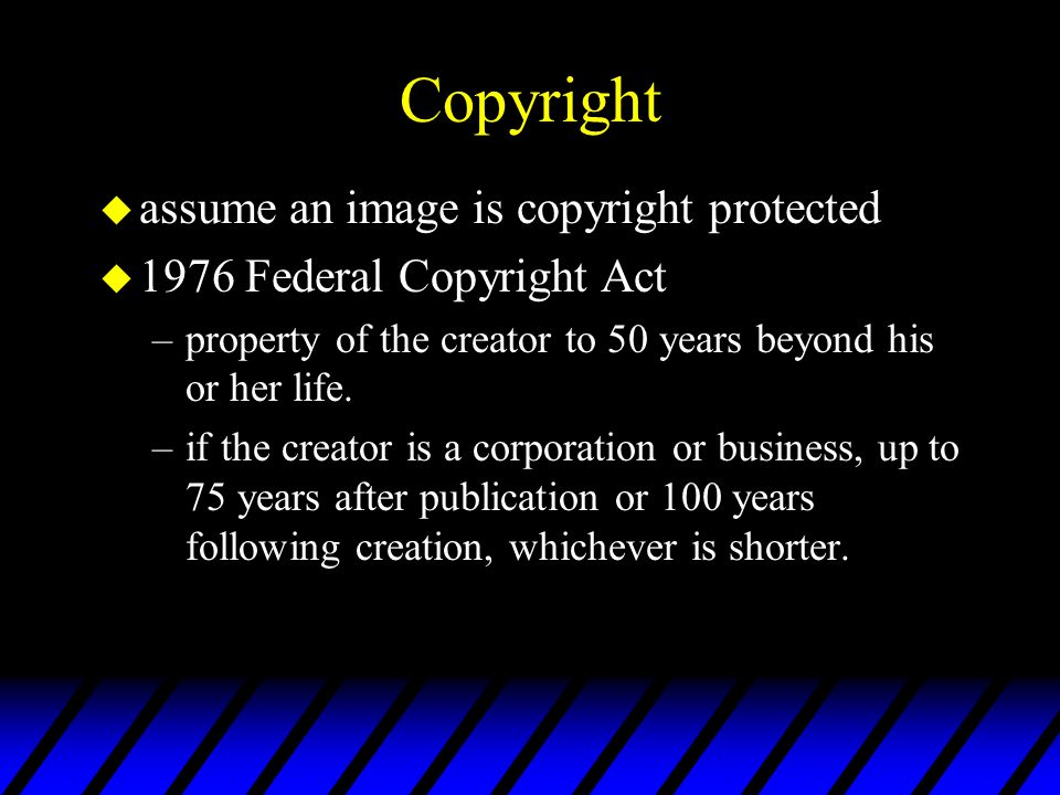 Copyright assume an image is copyright protected