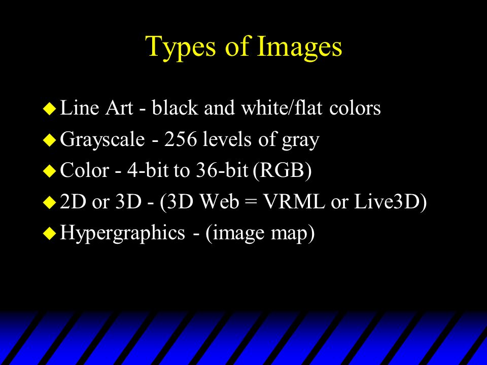 Types of Images Line Art - black and white/flat colors