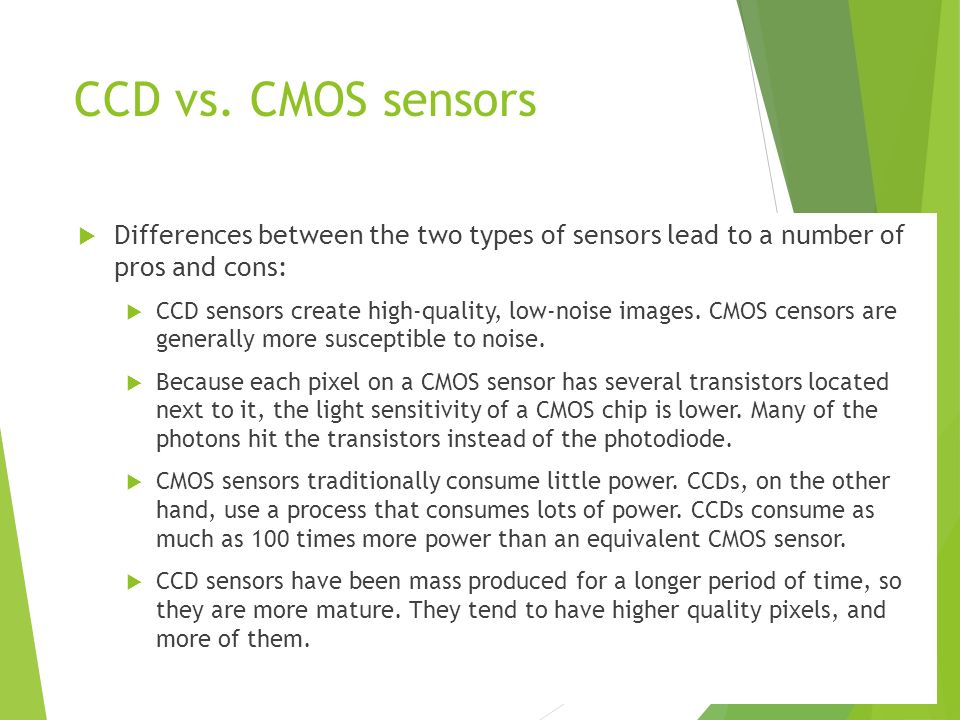 CMOS And CCD: What Is It And What Are The Differences
