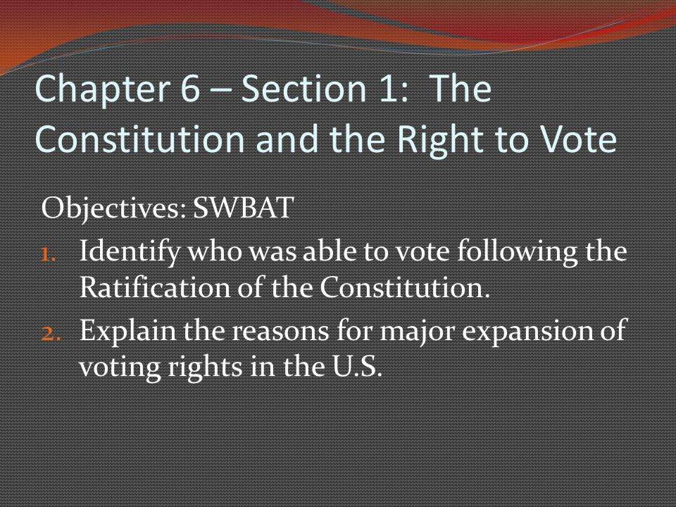 Chapter 6: Voters and Voter Behavior Ms. A. Boland - ppt video ...