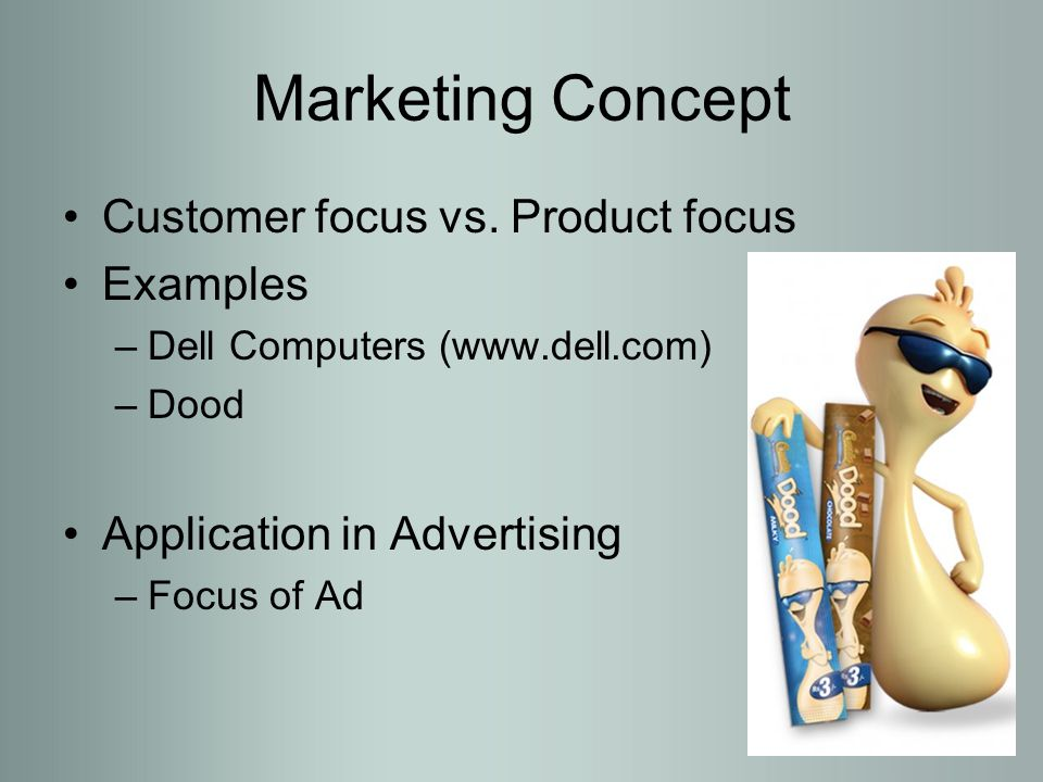 Marketing concept of dell
