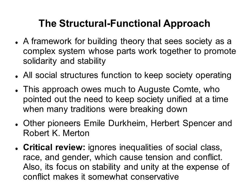 The Structural-Functional Approach
