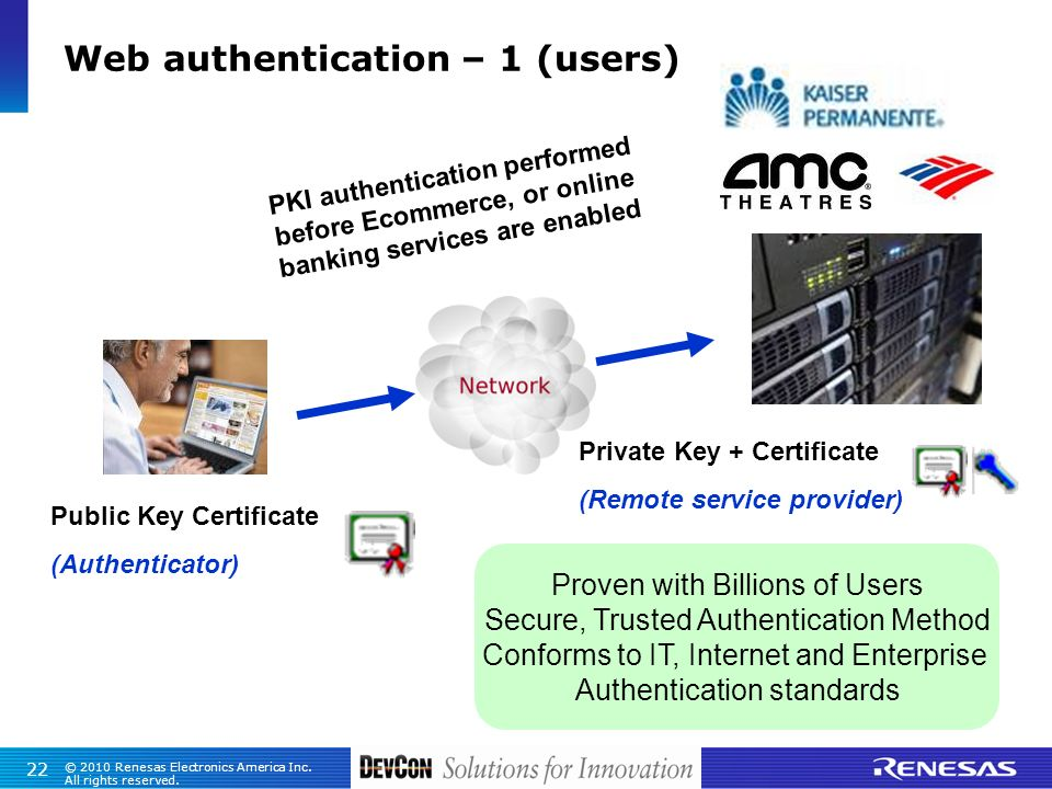 Web authentication – 1 (users)