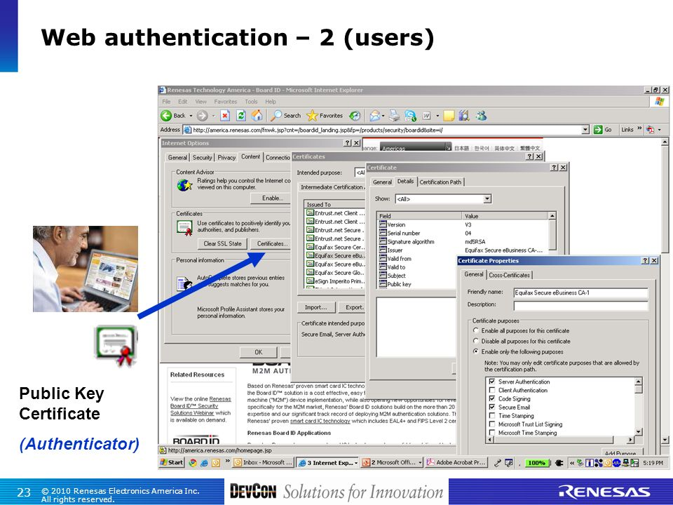 Web authentication – 2 (users)