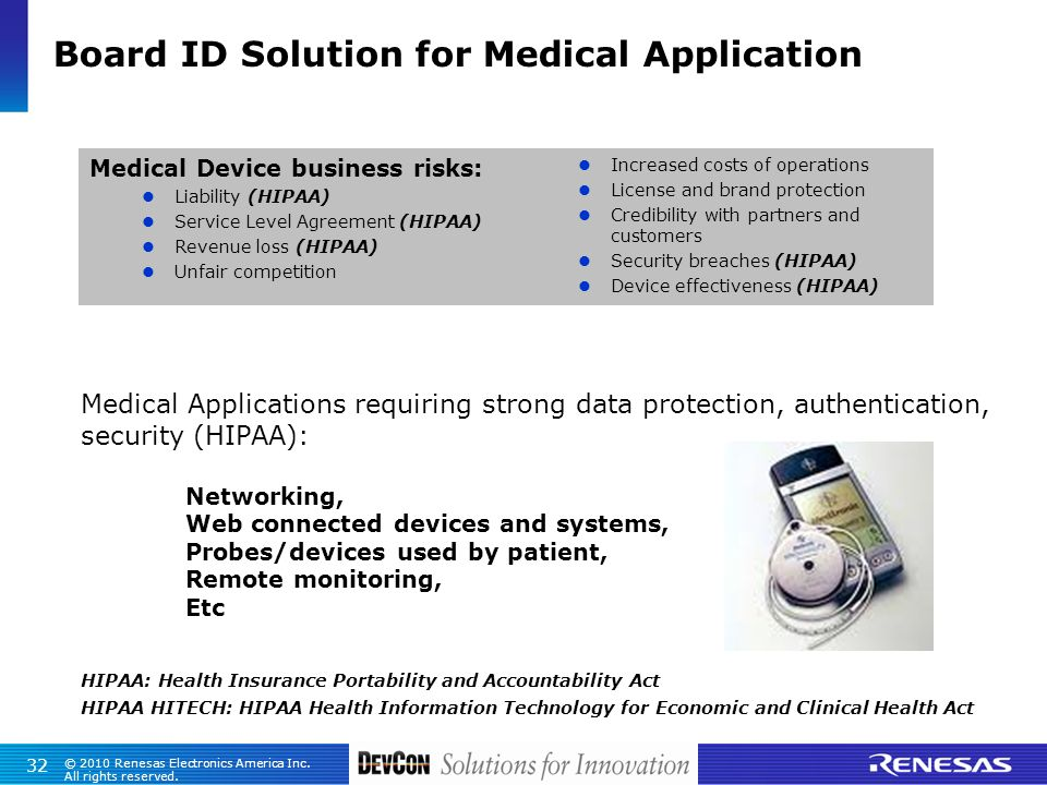 Board ID Solution for Medical Application