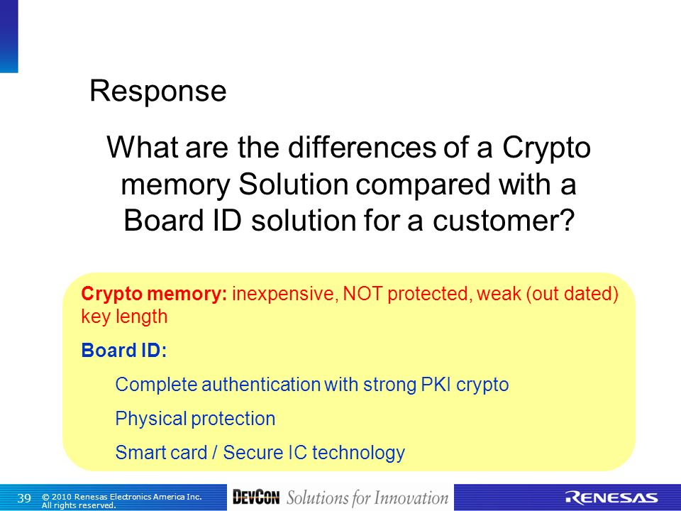 What are the differences of a Crypto memory Solution compared with a