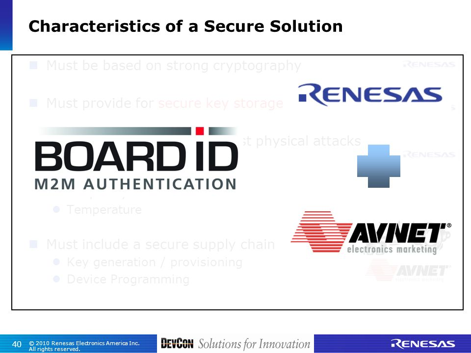 Characteristics of a Secure Solution