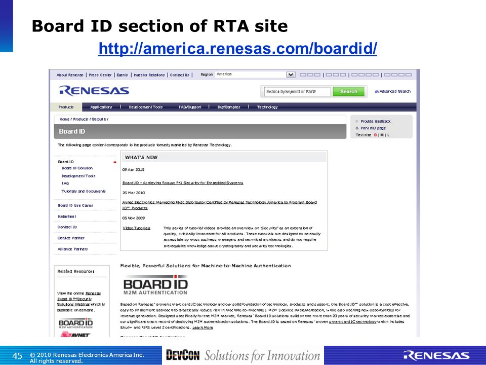 Board ID section of RTA site http://america.renesas.com/boardid/