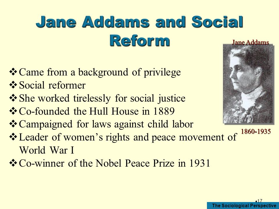 Jane Addams and Social Reform