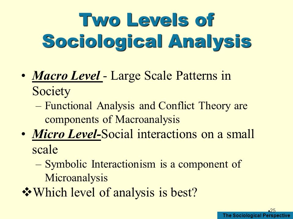 Sociological Analysis