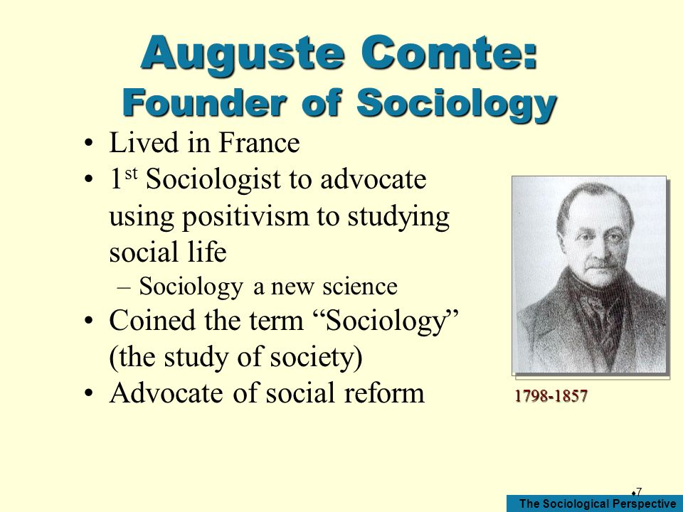 Auguste Comte: Founder of Sociology Lived in France
