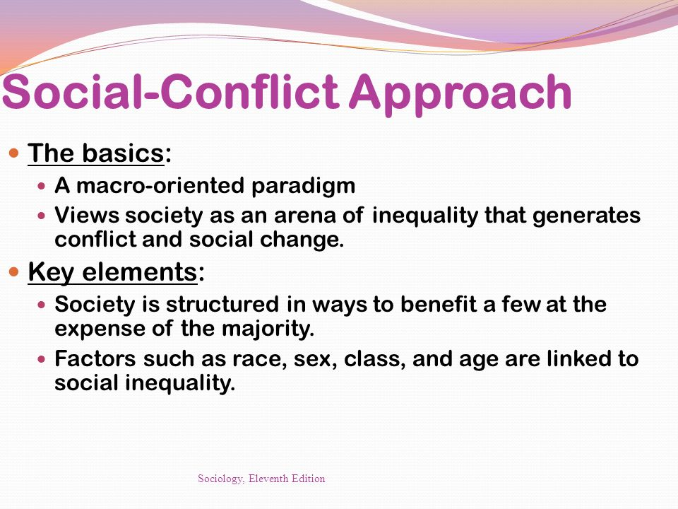 social conflict approach