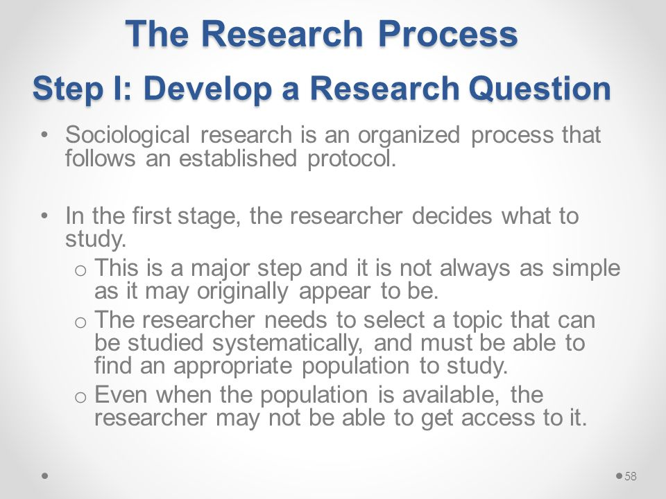 how to develop a research topic