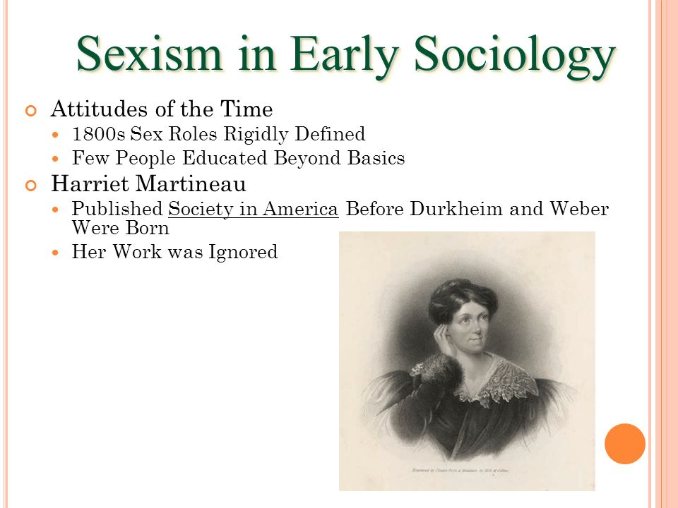 Sexism in Early Sociology