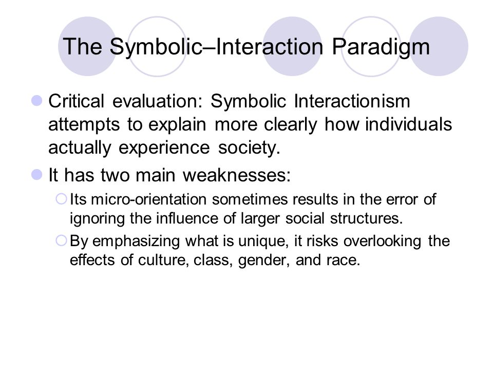 weaknesses of symbolic interactionism
