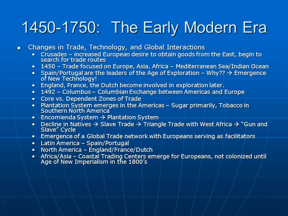 1450 To 1750 The Early Modern Era Ppt Video Online Download