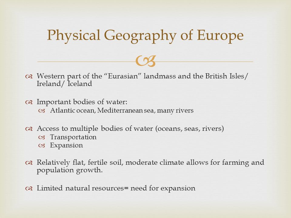 The Geography And People Of Europe Ppt Video Online Download. Physical Geography Of Europe. Worksheet. Physical Features Of Europe Worksheet At Mspartners.co