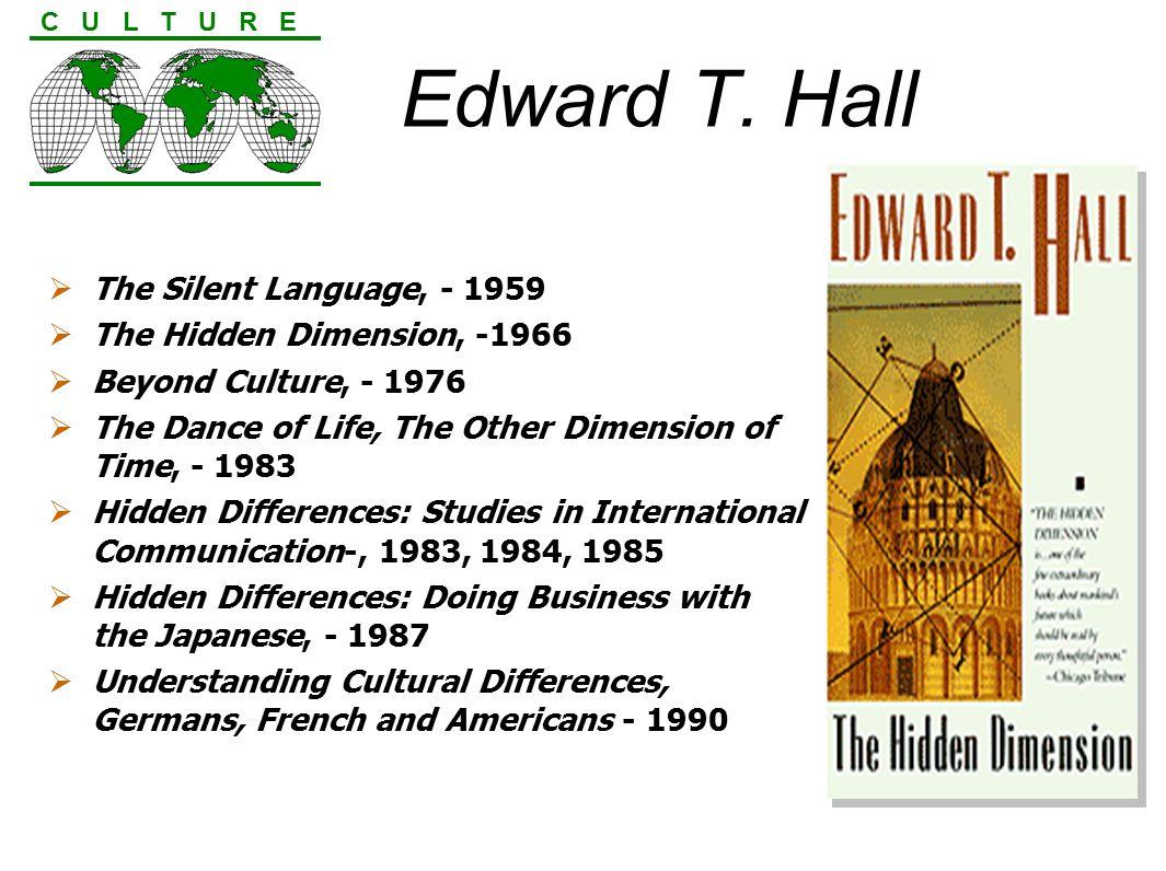 edward hall the hidden dimension