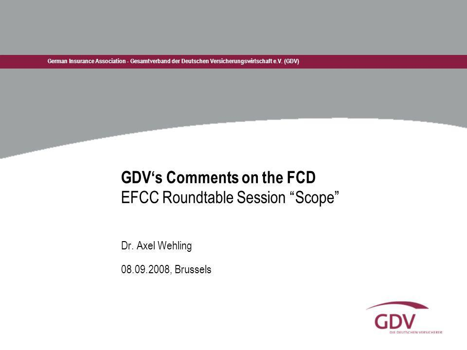 GDV's Comments on the FCD EFCC Roundtable Session Scope
