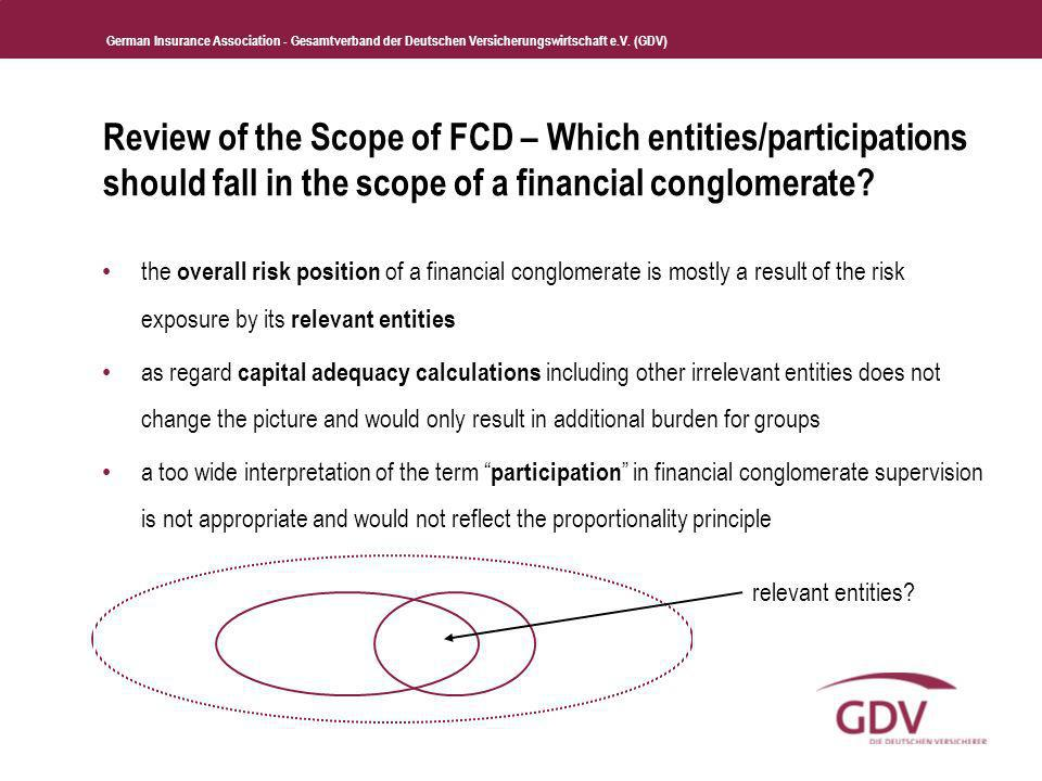 Review of the Scope of FCD – Which entities/participations should fall in the scope of a financial conglomerate