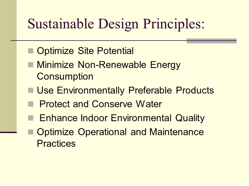 Sustainable Design Principles: