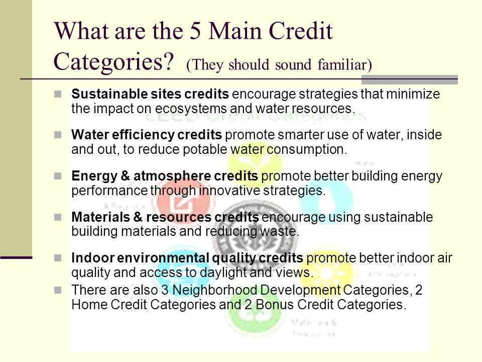 What are the 5 Main Credit Categories (They should sound familiar)