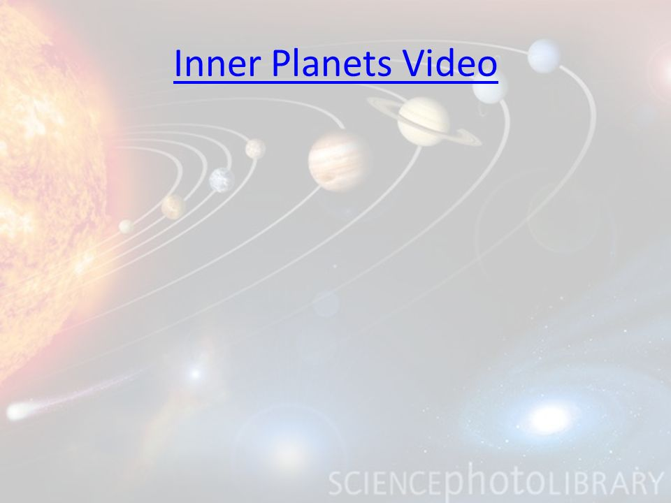 Inner Planets Video