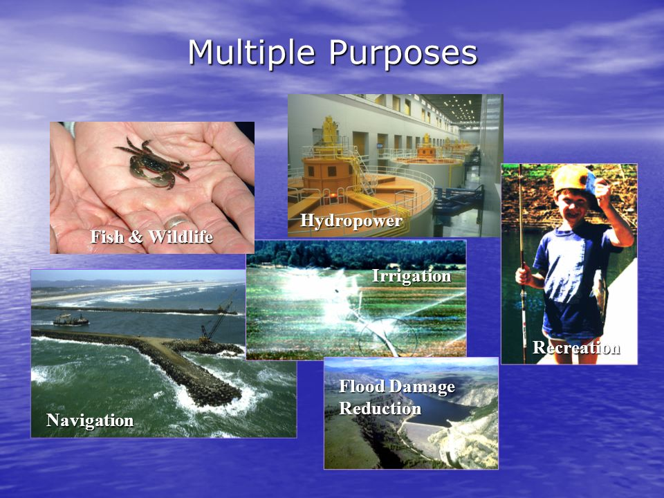 Multiple Purposes Hydropower Fish & Wildlife Irrigation Recreation