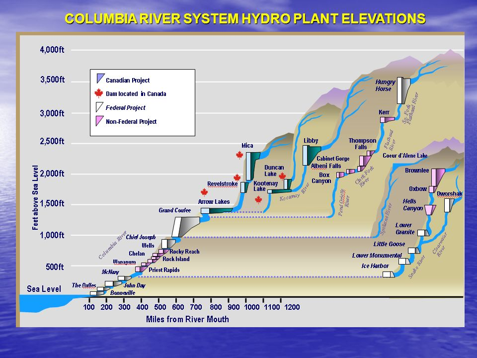 COLUMBIA RIVER SYSTEM HYDRO PLANT ELEVATIONS