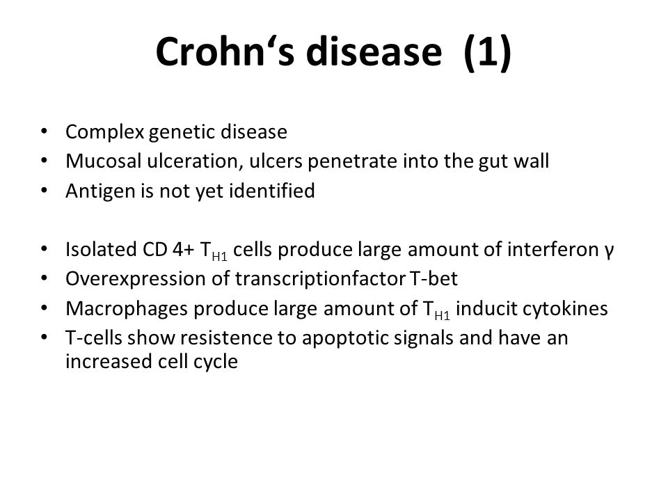 Crohn's disease (1) Complex genetic disease