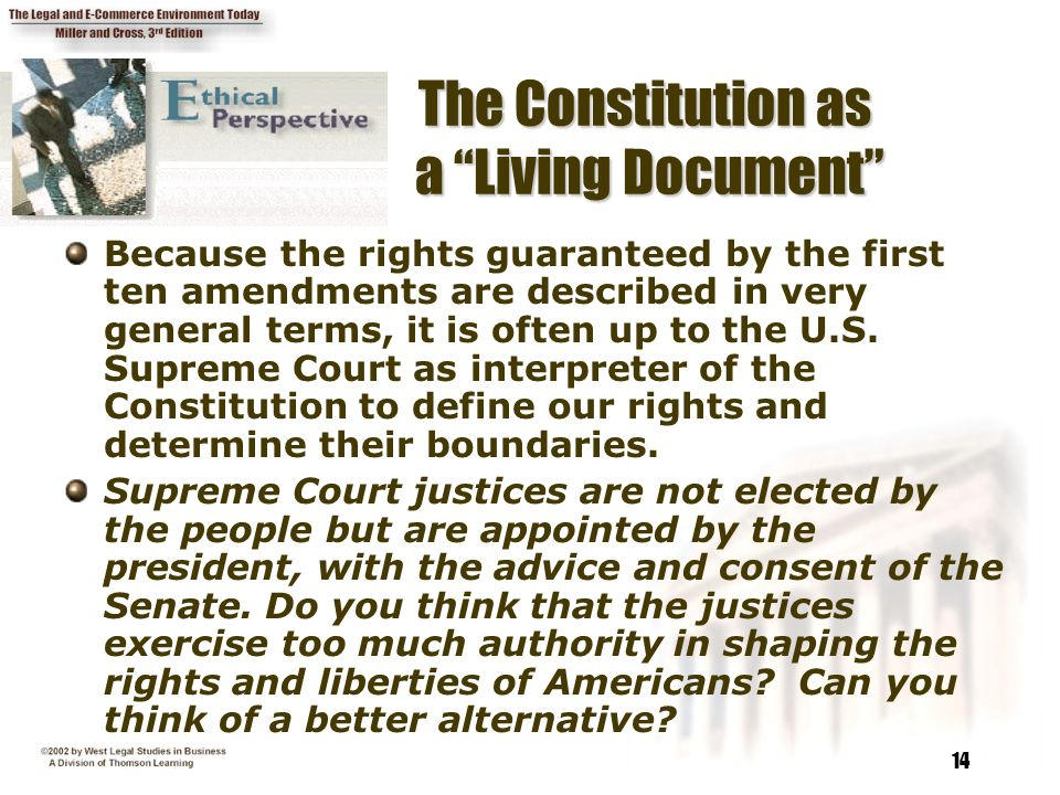 how is the constitution a living document
