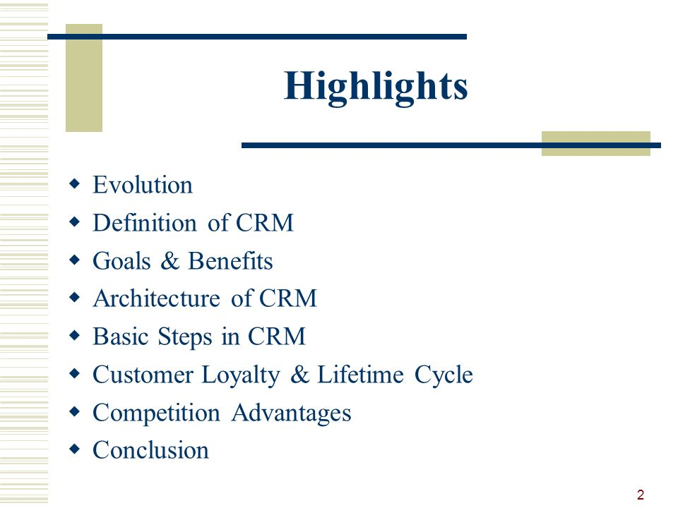 conclusion of customer relationship management