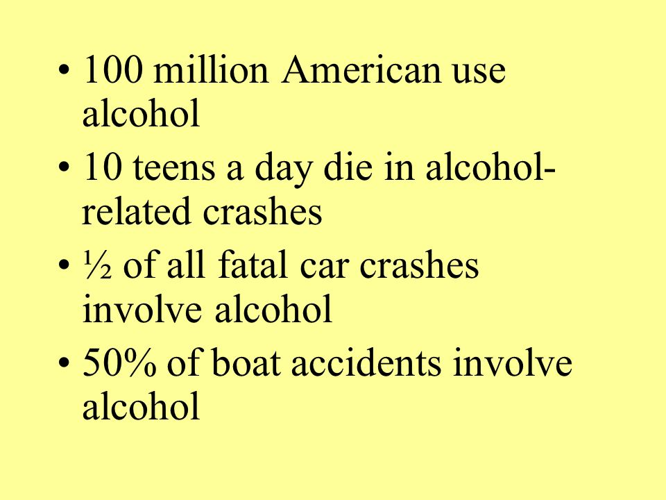 100 million American use alcohol