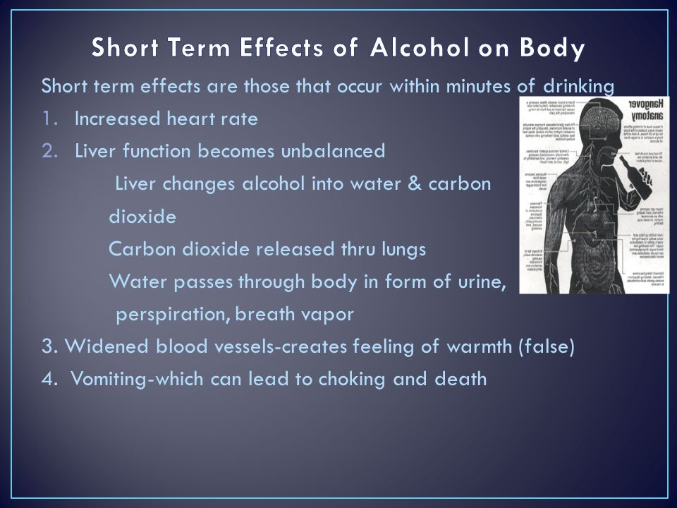 Short Term Effects of Alcohol on Body