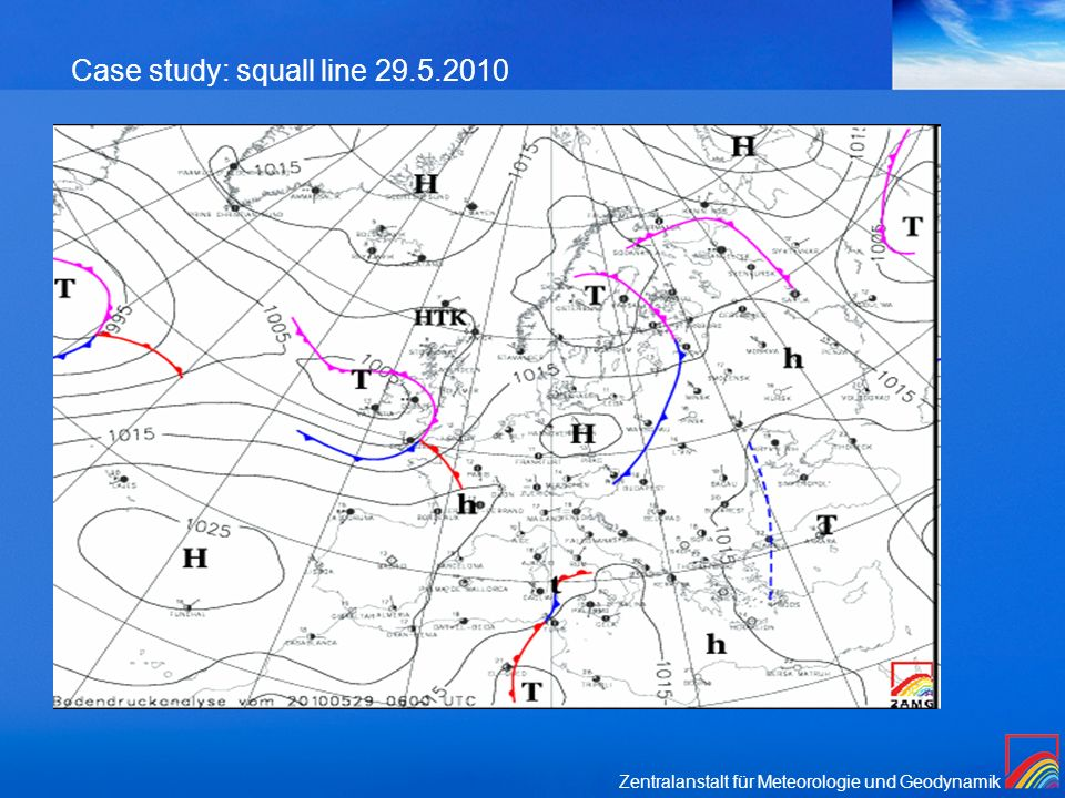 Case study: squall line