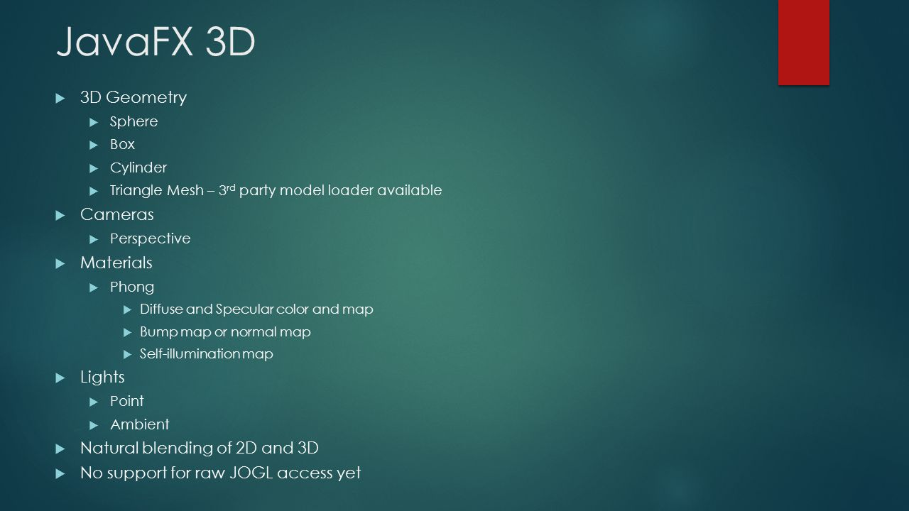 JavaFX Updates in Java 8 3D and Webview By Rob Ratcliff - ppt video