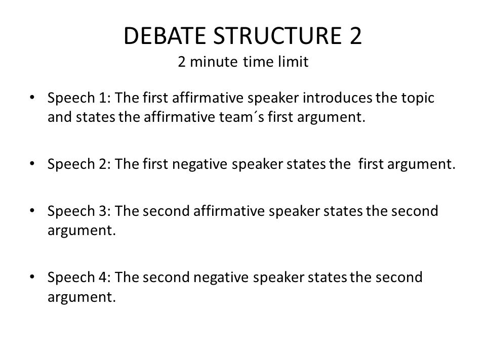 sample debate speech 3rd speaker Template for debate speeches note: this document is intended as a guide for writing speeches for a debate  (finish your debate speech with a sentence that sums up what your team believes you can use  template for debate speeches, page  2 first speaker, negative team  introduction  1 good morning/afternoon/evening mr/madam chairman.