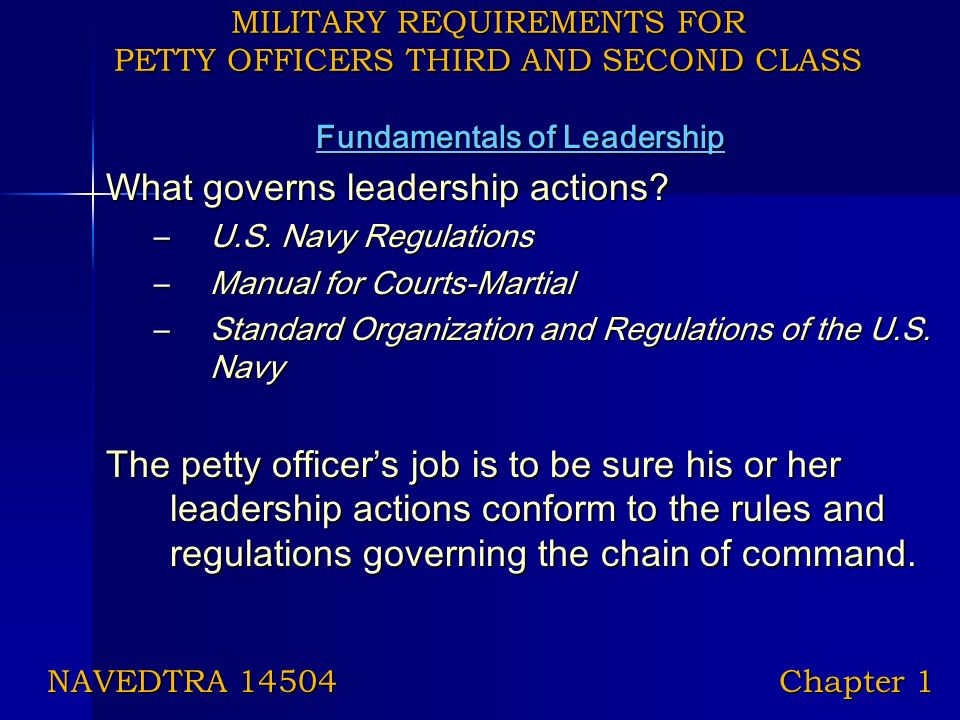 military requirements for petty officers third and second class rh slideplayer com navy regulations manual 1990 navy uniform regulations manual