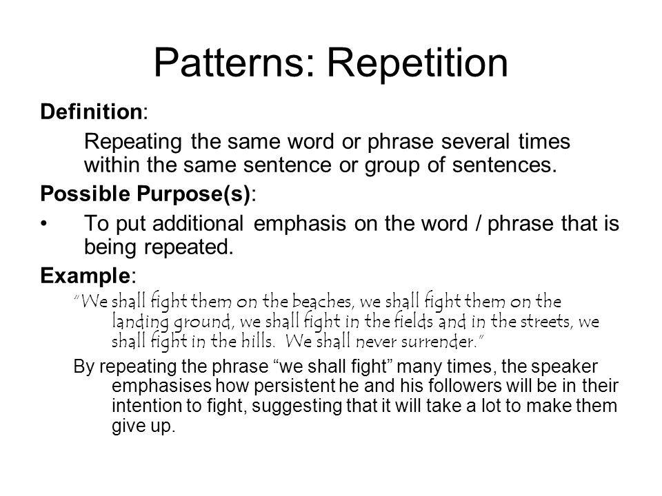 Sentence Structure Patterns ppt download Awesome Patterns Definition
